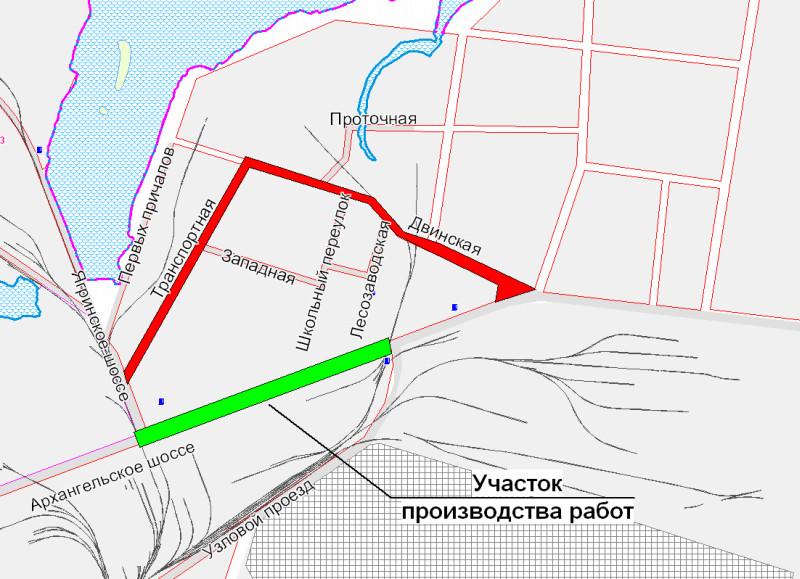 Схема движения транспорта на